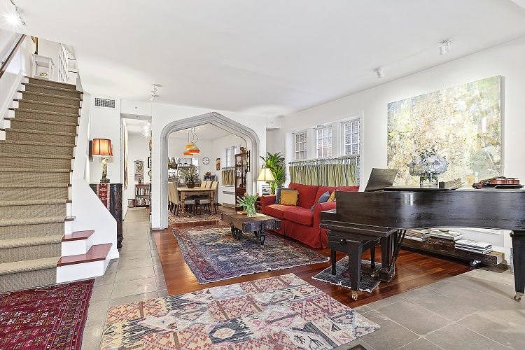 inside a beautiful pre-war townhouse in Park Slope, Brooklyn