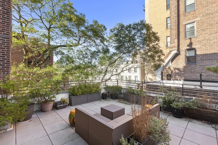 roof deck of a brooklyn townhouse in park slope